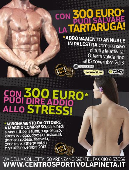 Promozione 2013 2014 palestra arenzano pineta 300 euro un anno centro benessere