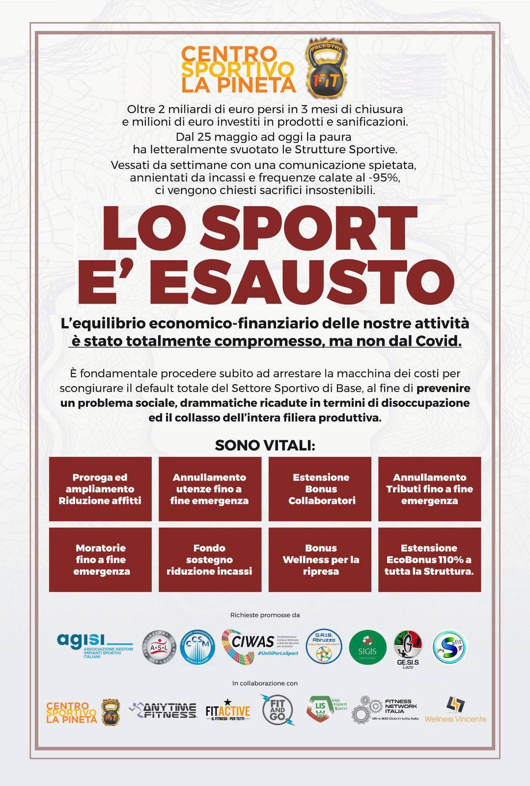 sport esausto movimento dpcm ottobre 2020 contro chiusura palestre attività sportive italia liguria arenzano